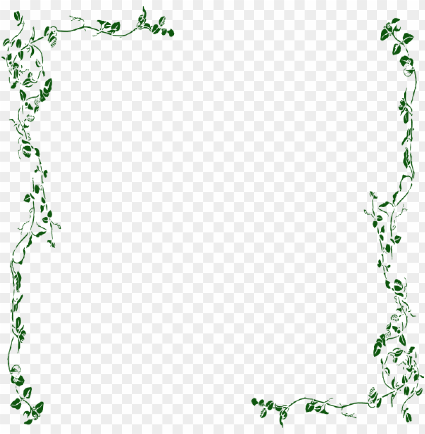 free PNG vine border green clip art at clker com vector clip - vinyl wall art decal sticker #275 flower floral vines PNG image with transparent background PNG images transparent