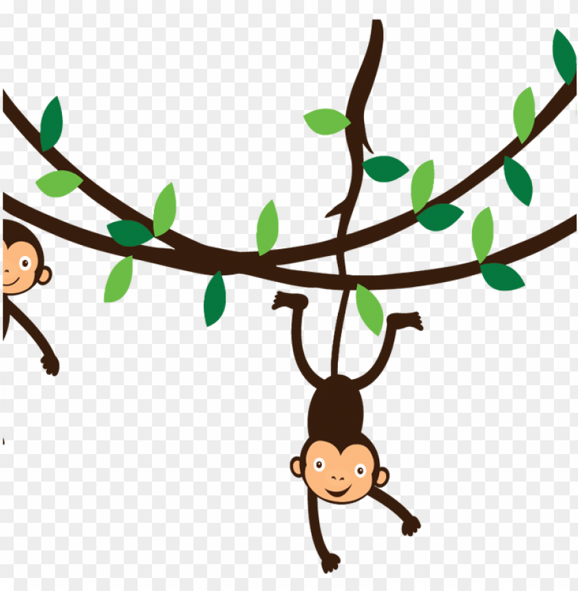 free PNG vine clipart monkey pencil and in color vine clipart - monkeys on a vine PNG image with transparent background PNG images transparent