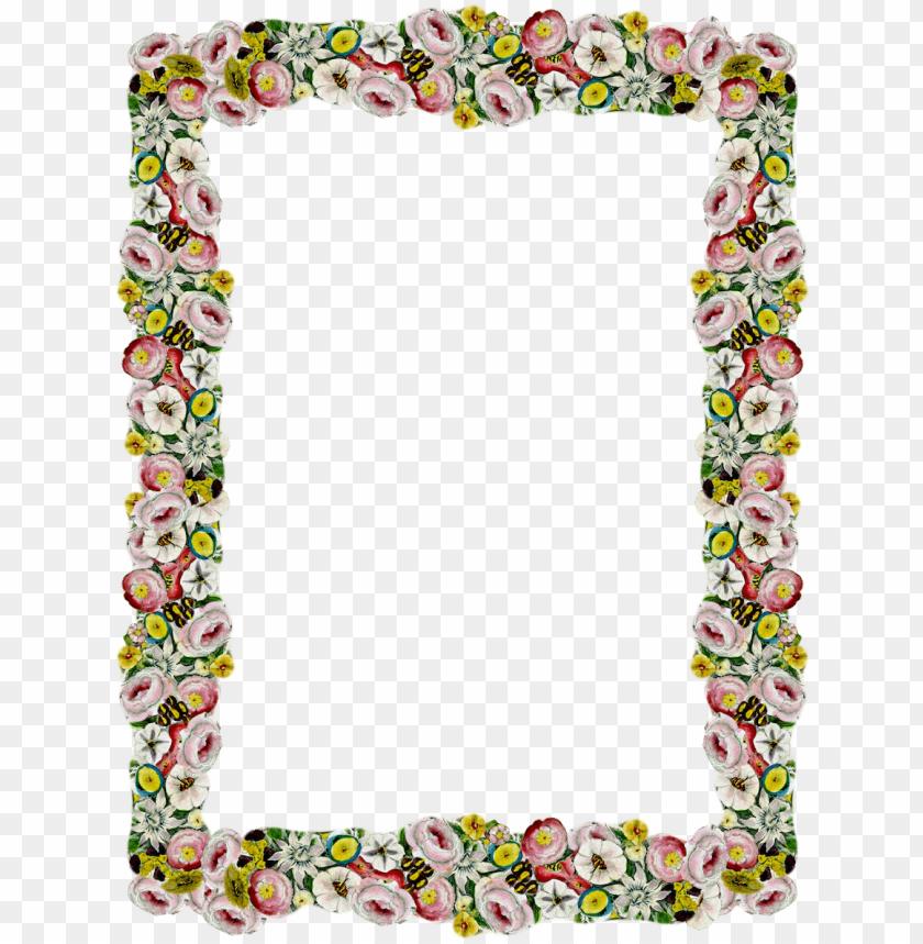 free PNG vintage borders, flower borders, floral border, vintage - vintage flower border PNG image with transparent background PNG images transparent