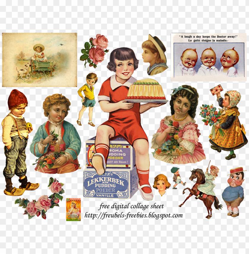 free PNG vintage ephemera, vintage art, collage sheet, digital - vintage collage PNG image with transparent background PNG images transparent