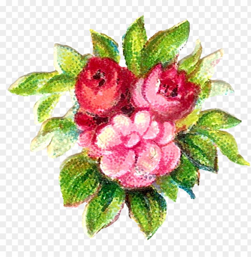 free PNG vintage flower clip art, floral border - victorian flower transparent PNG image with transparent background PNG images transparent