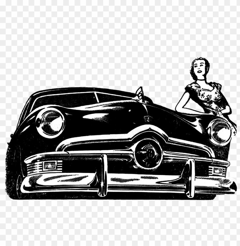 free PNG Download vintage ford illustration png images background PNG images transparent