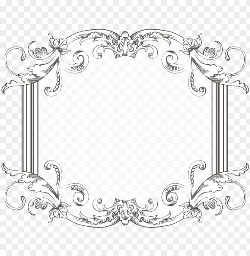 free PNG vintage frame three by kingoftheswingers on deviantart - vintage border frame PNG image with transparent background PNG images transparent