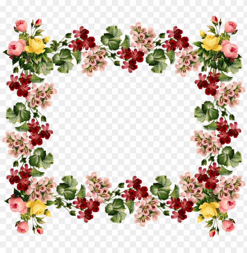 free PNG vintage frames and borders - vintage floral border desi PNG image with transparent background PNG images transparent