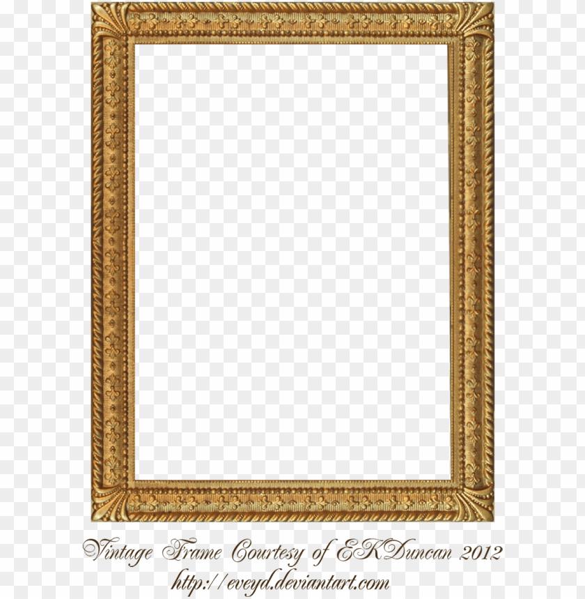 Vintage Gold Frame Png Frames For Google Slides Png Image With