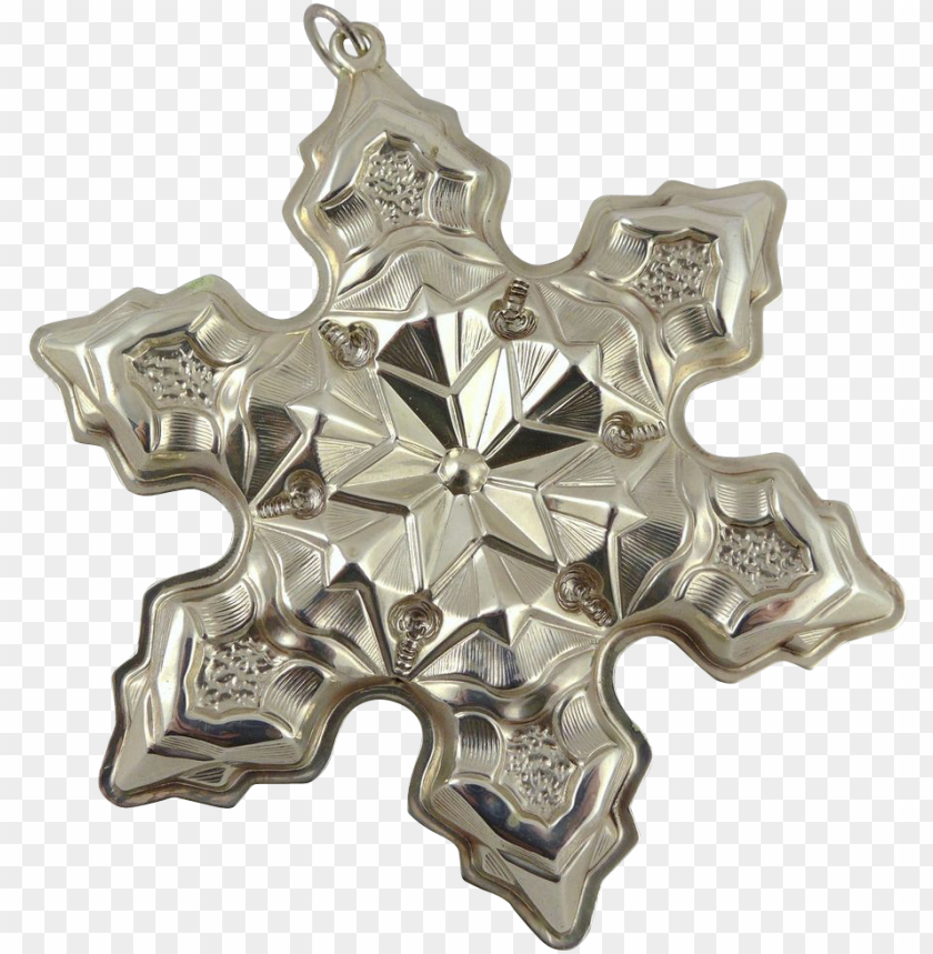 free PNG vintage gorham sterling silver snowflake christmas - cross PNG image with transparent background PNG images transparent