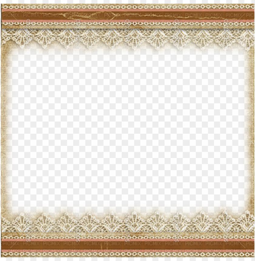 free PNG vintage lace border png - vintage brown png frames PNG image with transparent background PNG images transparent