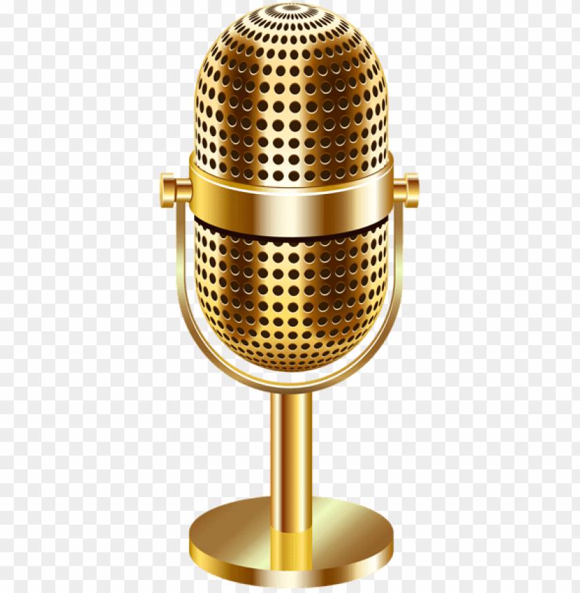 free PNG Download vintage microphone gold transparent png images background PNG images transparent