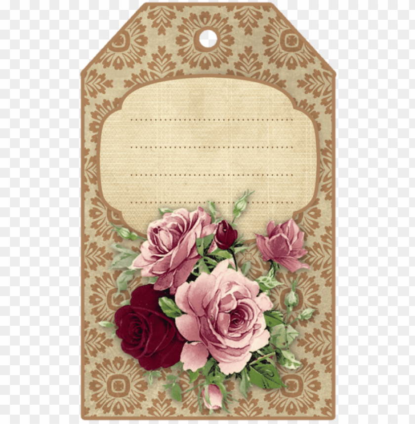 free PNG vintage tags, vintage labels, free printable tags - vintage etiquetas para regalos flores PNG image with transparent background PNG images transparent
