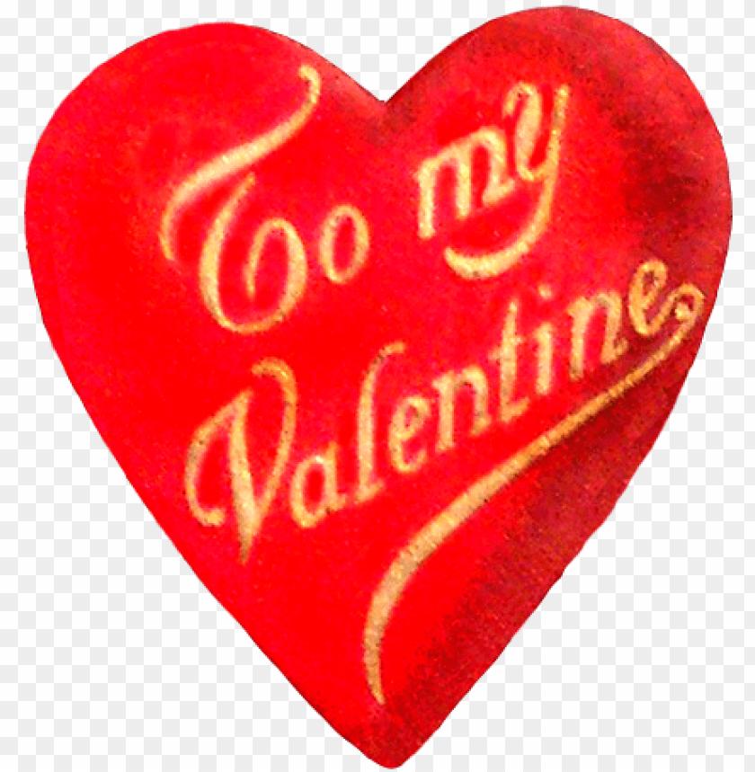 free PNG vintage valentine's day heart - vintage valentines PNG image with transparent background PNG images transparent