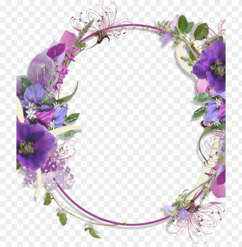 free PNG visit - transparent purple floral frame PNG image with transparent background PNG images transparent