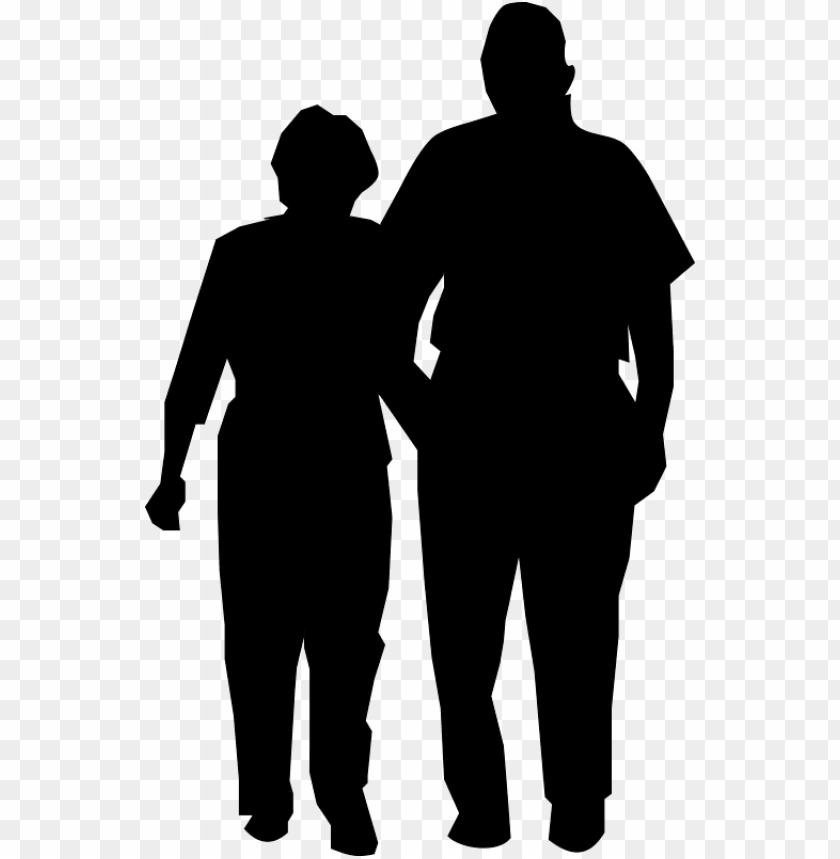 free PNG vmed - info - couple walking silhouette PNG image with transparent background PNG images transparent