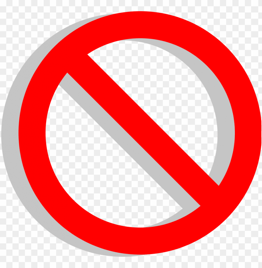 Vote No Png Emoji Red Circle With Slash Png Image With