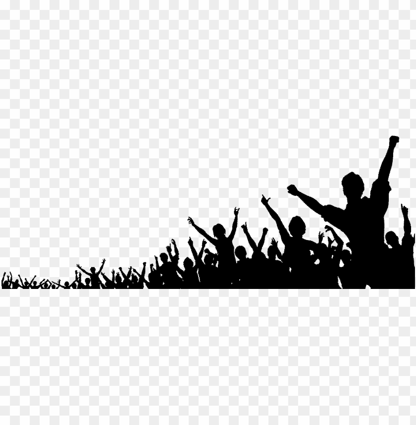 free PNG votingpal cheering crowd silhouette png - people crowd concert PNG image with transparent background PNG images transparent