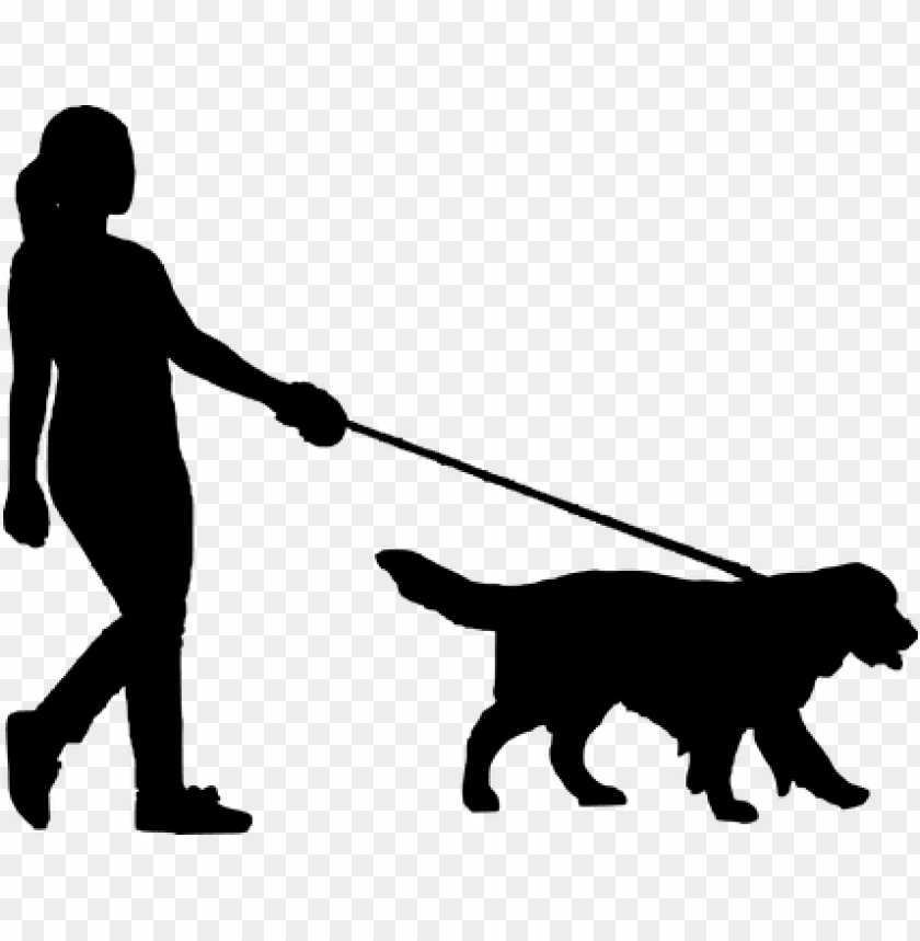 free PNG walking, dog, women, people, silhouette - silhouette of person walking do PNG image with transparent background PNG images transparent