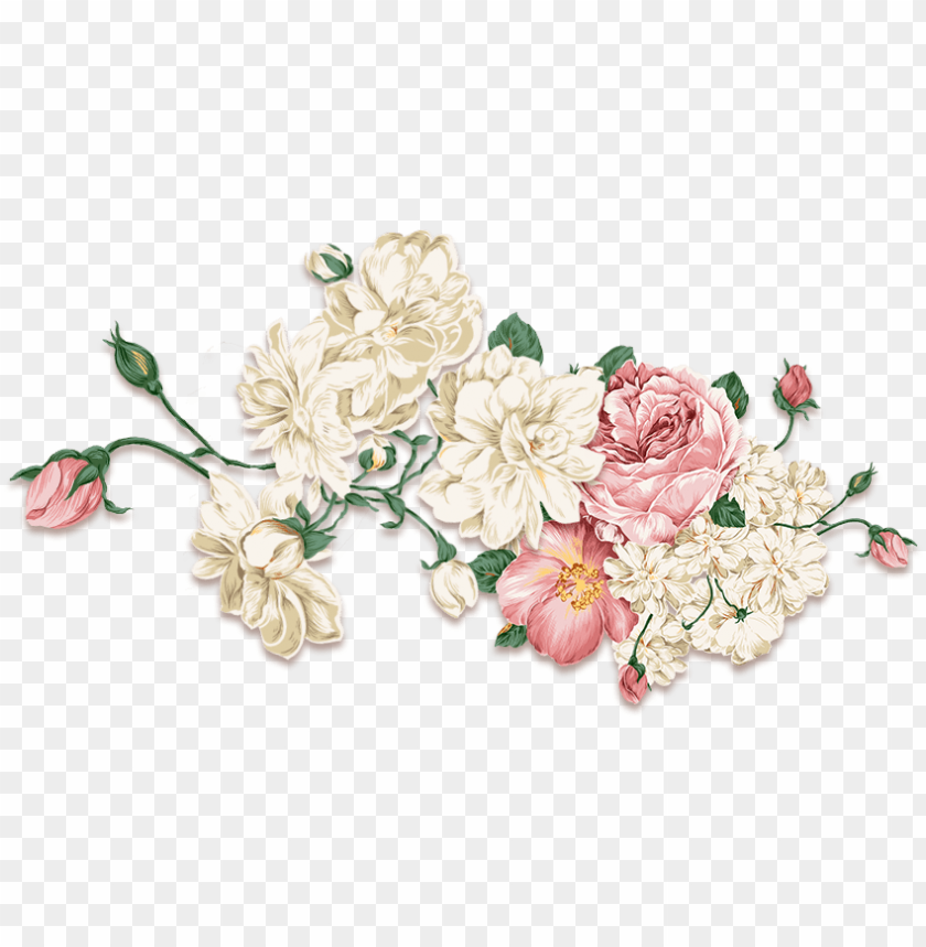 free PNG wall decal flower peony free download png hd clipart - vintage flower arrangement flower tattoo desi PNG image with transparent background PNG images transparent