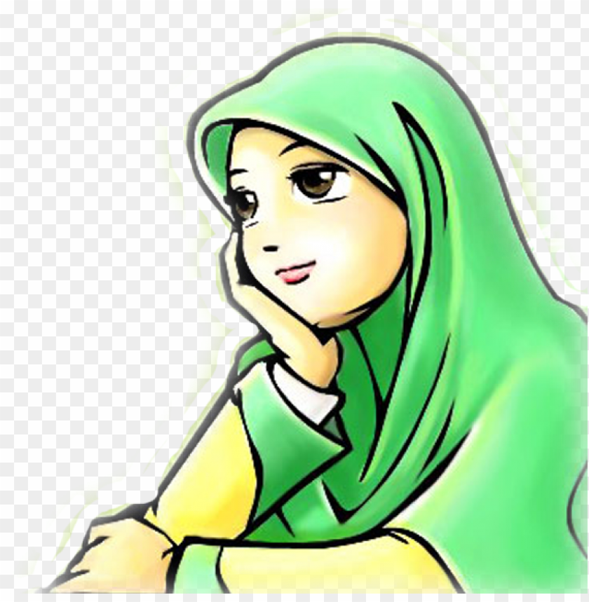 Gambar Kartun Wanita Png Wanita Muslimah Png 8 Image Kartun Termenu Png Image With