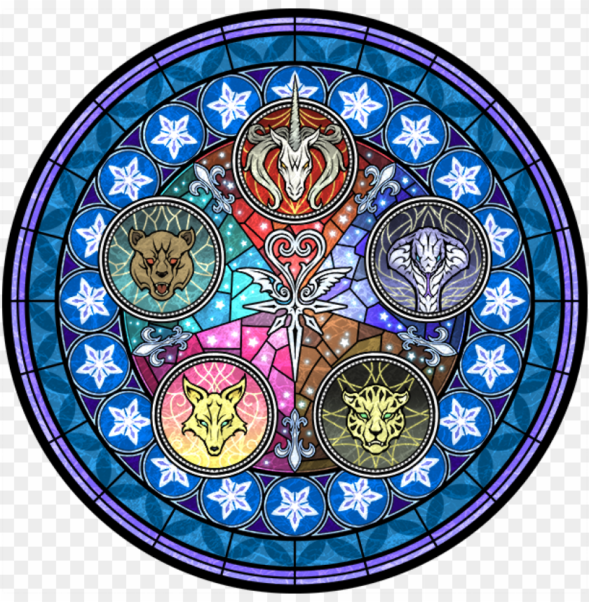free PNG war of heart [kingdom hearts x] - kingdom hearts unchained x stained glass PNG image with transparent background PNG images transparent