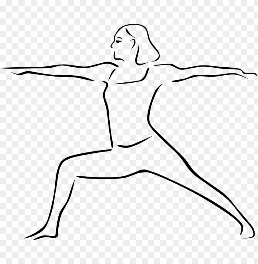 Warrior Ii Pose Drawing Of Yoga Poses Png Image With Transparent Background Toppng