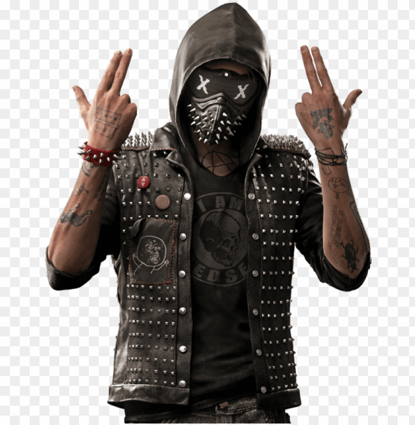 free PNG watch dogs - watch dogs 2 wrench costume PNG image with transparent background PNG images transparent