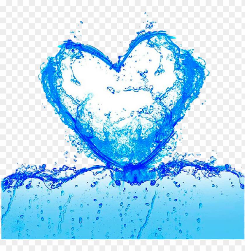 free PNG water splash hearts - illustratio PNG image with transparent background PNG images transparent