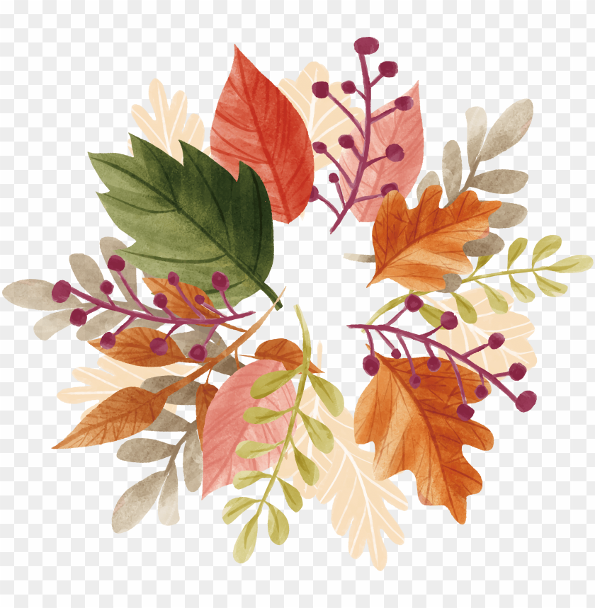 free PNG watercolor autumn leaf box transprent png free - watercolor fall leaves transparent PNG image with transparent background PNG images transparent
