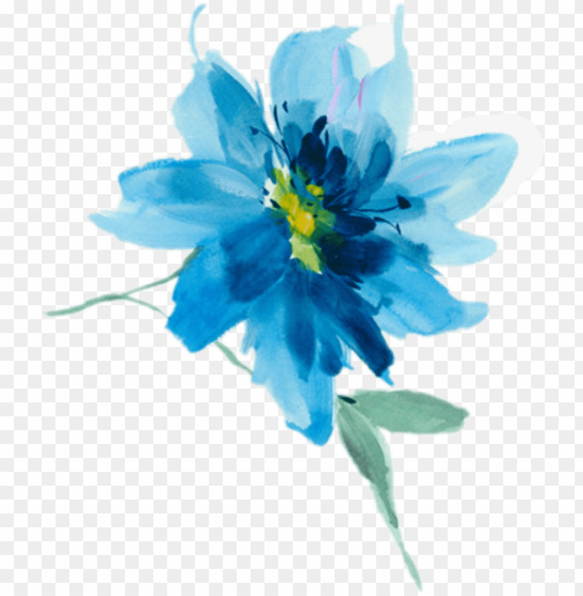 watercolor blueflower sticker by janet murphy flores azules pintadas png image with transparent background toppng flores azules pintadas png image with