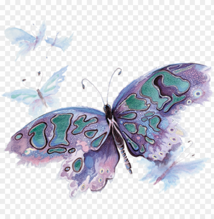 free PNG watercolor butterfly - pink and purple watercolor butterfly PNG image with transparent background PNG images transparent