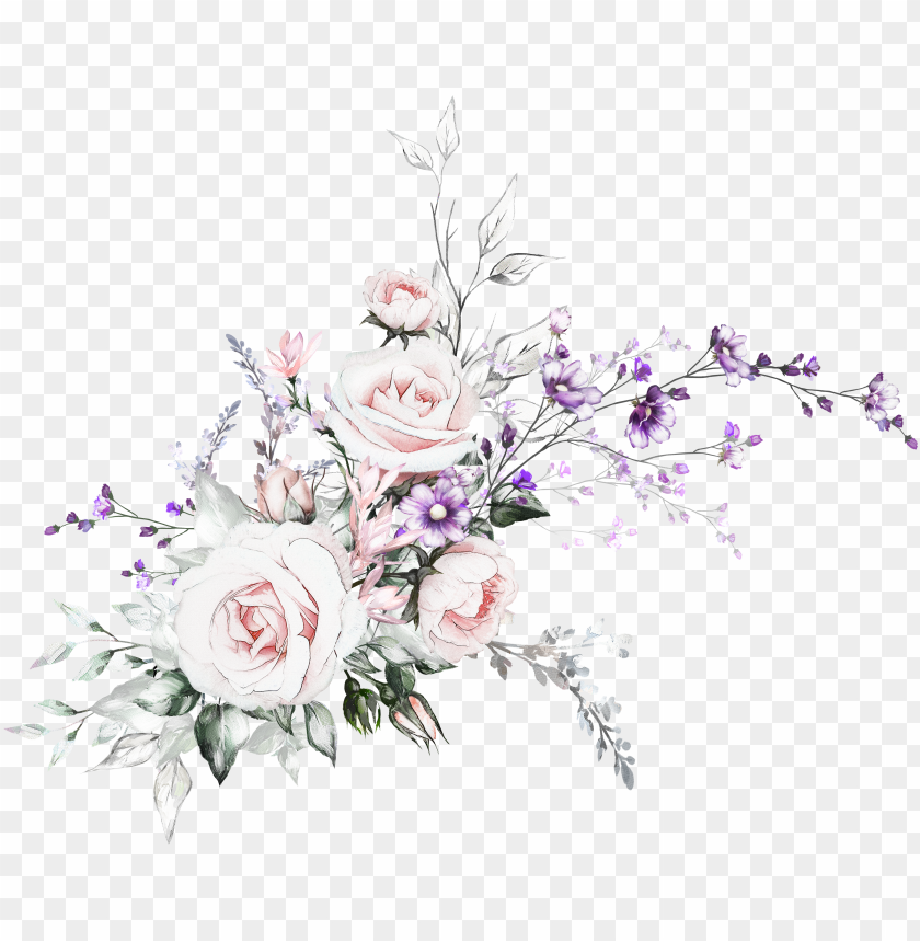 free PNG watercolor drawing, watercolor flowers, flower graphic, - flowers oil painting for card PNG image with transparent background PNG images transparent