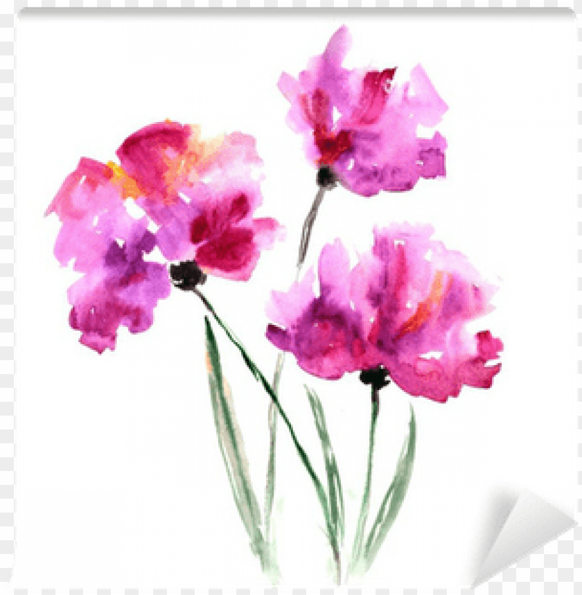 free PNG watercolor floral bouquet - abstract watercolour flower bunch PNG image with transparent background PNG images transparent