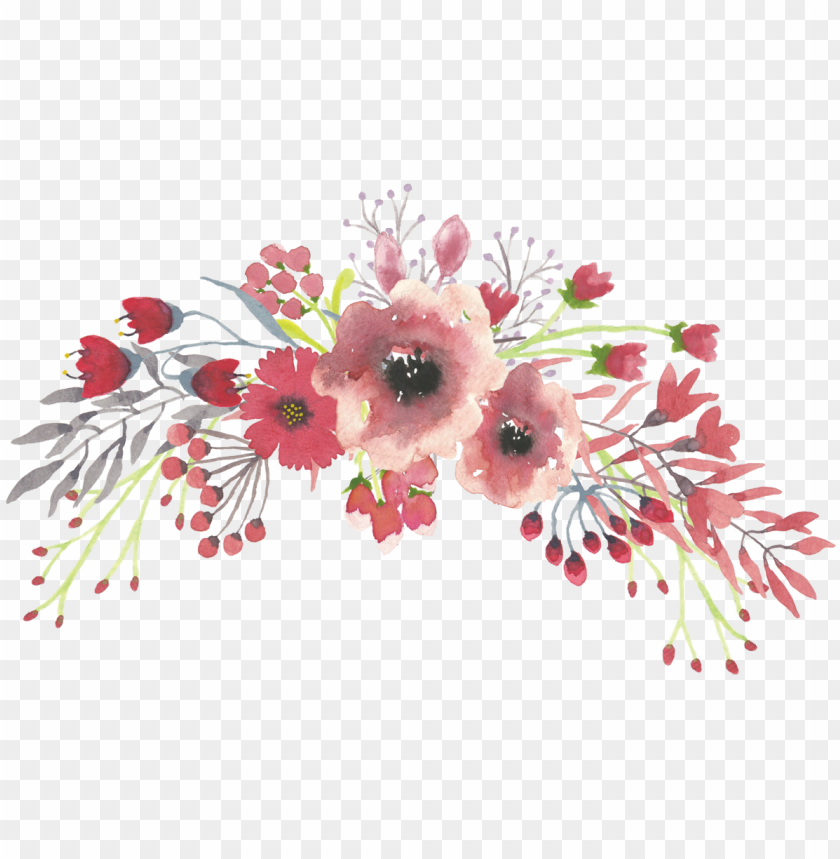 watercolor floral bouquet png svg download , watercolor