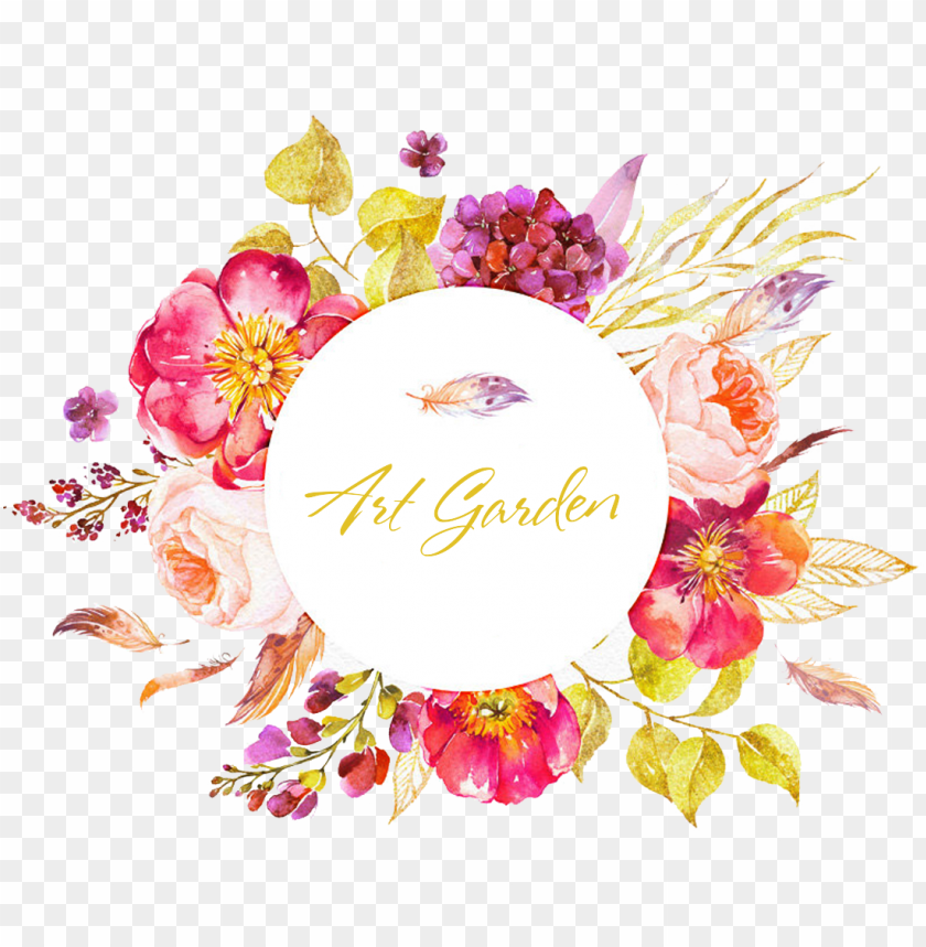 free PNG watercolor floral circle border PNG image with transparent background PNG images transparent