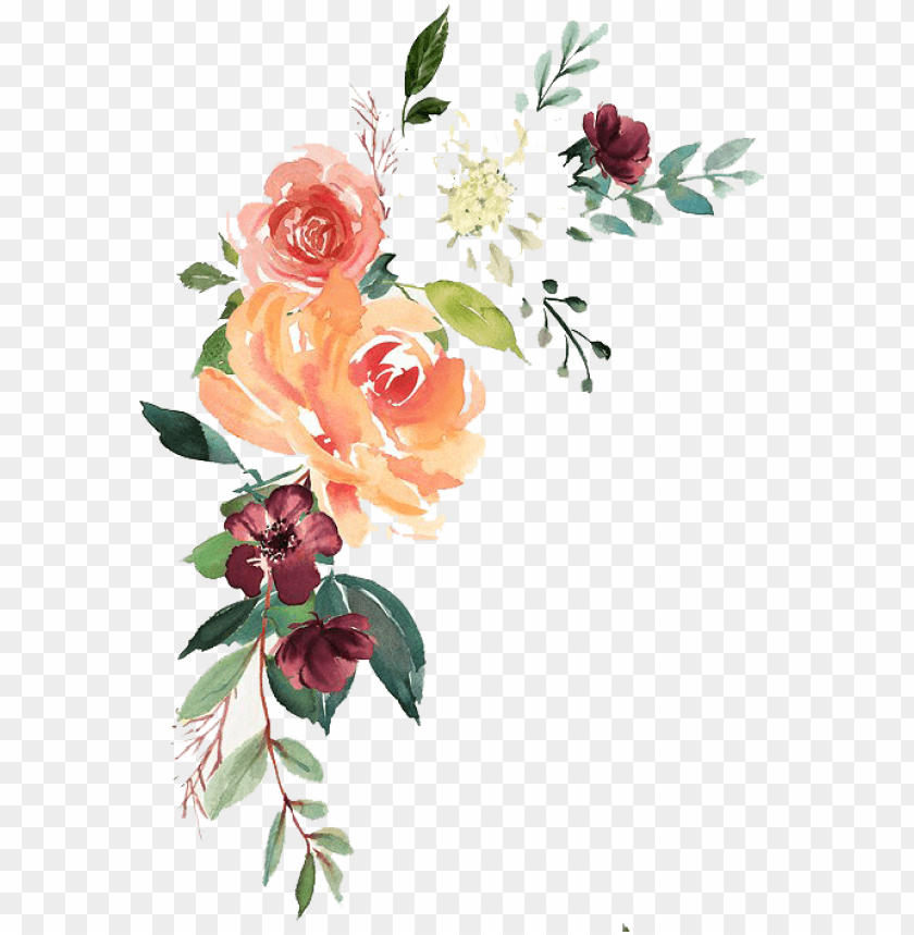 free PNG watercolor floral composition free- watercolor floral transparent png - Free PNG Images PNG images transparent