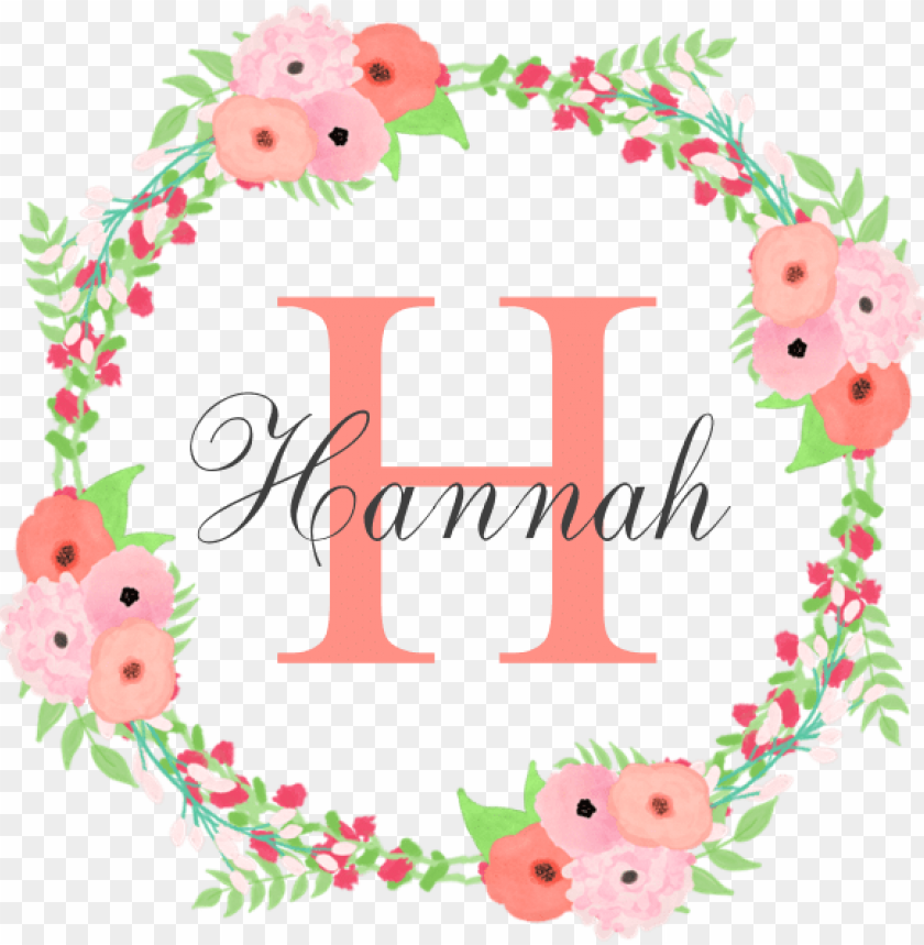 free PNG watercolor floral wreath monogram dog bed by so chic - watercolor floral wreath monogram shower curtai PNG image with transparent background PNG images transparent
