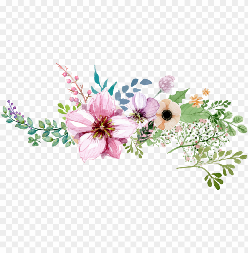 free PNG watercolor flower borderround png - watercolour flower border PNG image with transparent background PNG images transparent