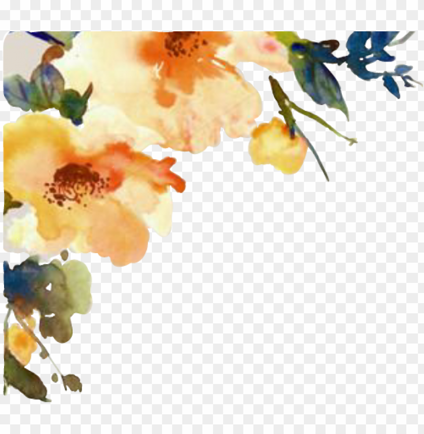 autumn flowers png watercolor flower cornerdesign flor flores fall autumn