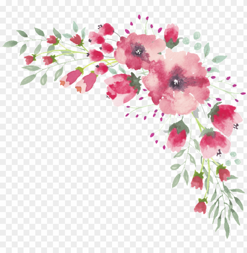 free PNG watercolor flower lace border - transparent watercolor flower border PNG image with transparent background PNG images transparent