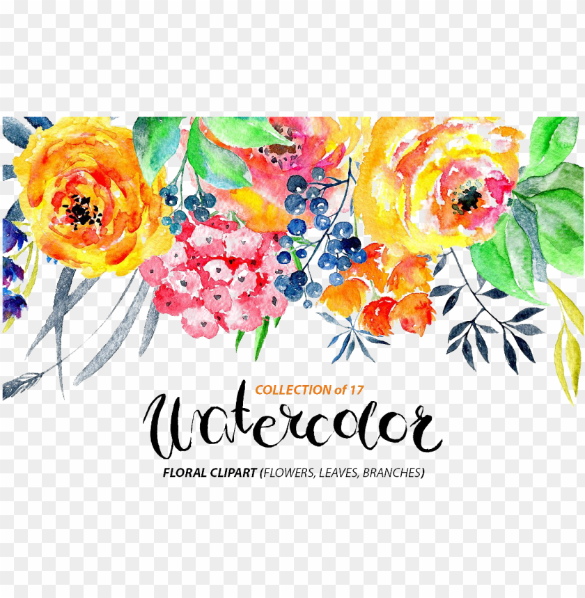 free PNG watercolor flowers png transparent image - floral watercolor flowers PNG image with transparent background PNG images transparent