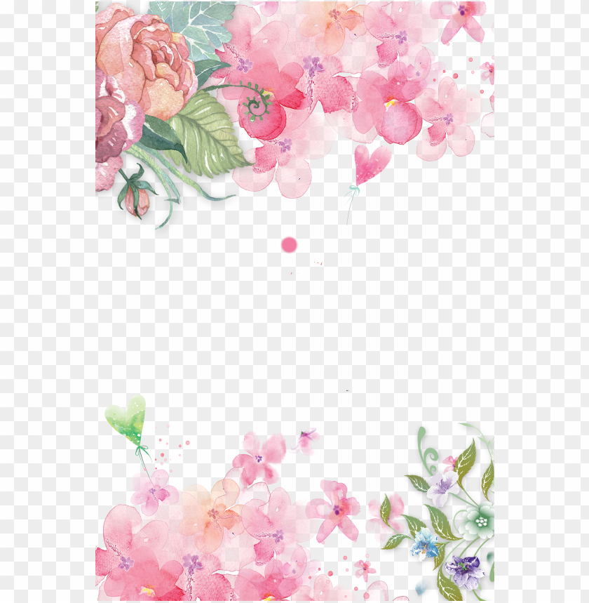 free PNG watercolor flowers shading, pink flowers, watercolor, - pink flower background png - Free PNG Images PNG images transparent