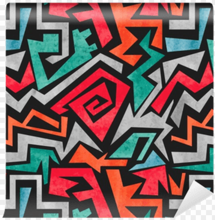 free PNG watercolor graffiti seamless pattern - watercolor geometric abstract background PNG image with transparent background PNG images transparent