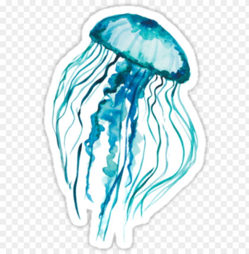 free PNG watercolor jellyfish • also buy this artwork on stickers, - watercolor jellyfish PNG image with transparent background PNG images transparent