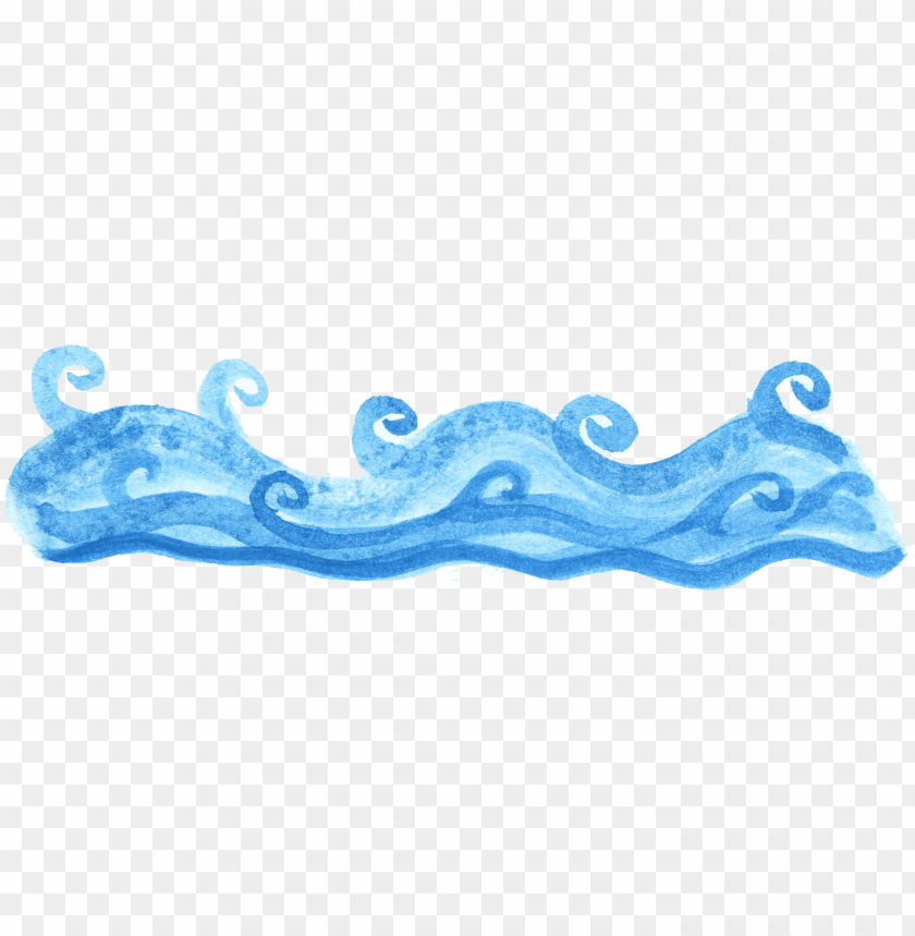 free PNG watercolor ocean wave 2 4 - ocean wave PNG image with transparent background PNG images transparent