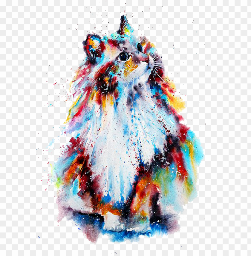 free PNG watercolor painting drawing illustration - watercolor drawing of cat PNG image with transparent background PNG images transparent