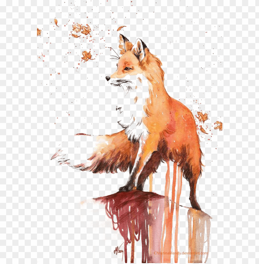 free PNG watercolor painting red fox drawing - fox watercolor png - Free PNG Images PNG images transparent