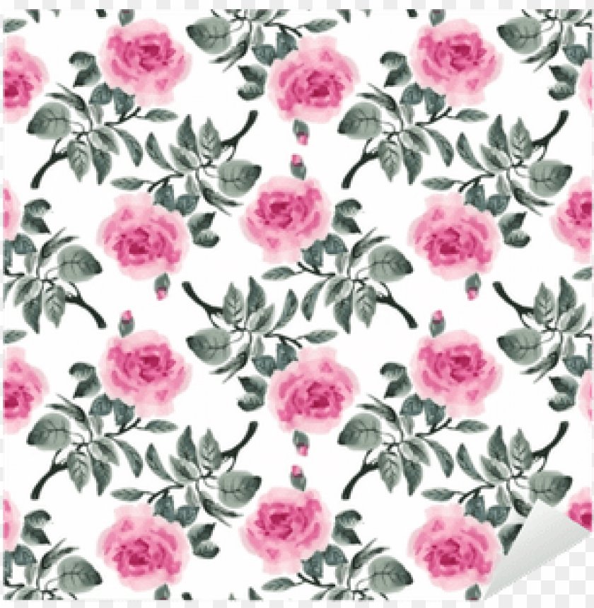 free PNG watercolor seamless pattern with colorful flowers and - rose hand drawn leaves red rose fabric floral designs PNG image with transparent background PNG images transparent