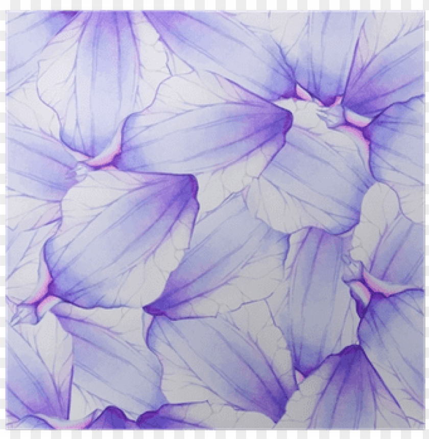 free PNG watercolor seamless pattern with purple flower petal - purple watercolor patter PNG image with transparent background PNG images transparent