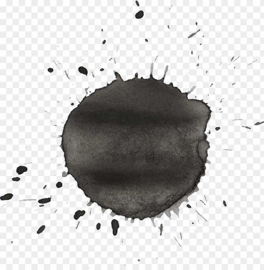 black splash png watercolor splashes png download - black watercolor splash