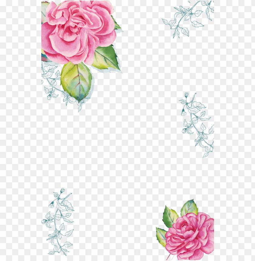free PNG watercolor transparent flower border PNG image with transparent background PNG images transparent