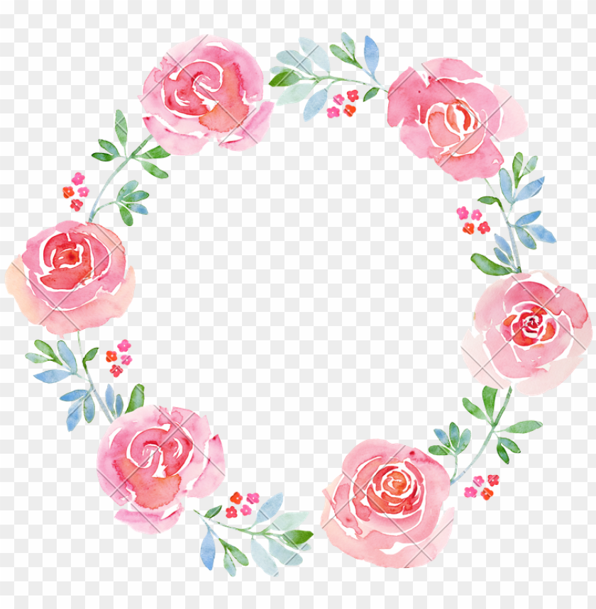 free PNG watercolor wreath png - watercolor flower wreath PNG image with transparent background PNG images transparent