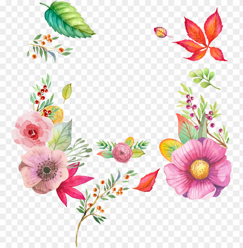 free PNG watercolour flowers watercolor painting - watercolor flowers vector PNG image with transparent background PNG images transparent